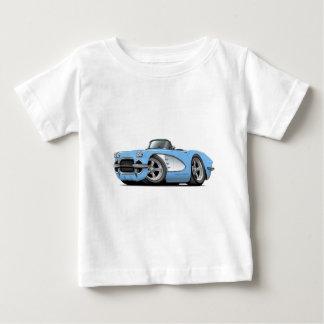 1961 Corvette Lt Blue Convertible Baby T-Shirt