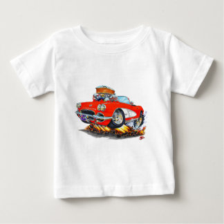 1961 Corvette Red Convertible Baby T-Shirt
