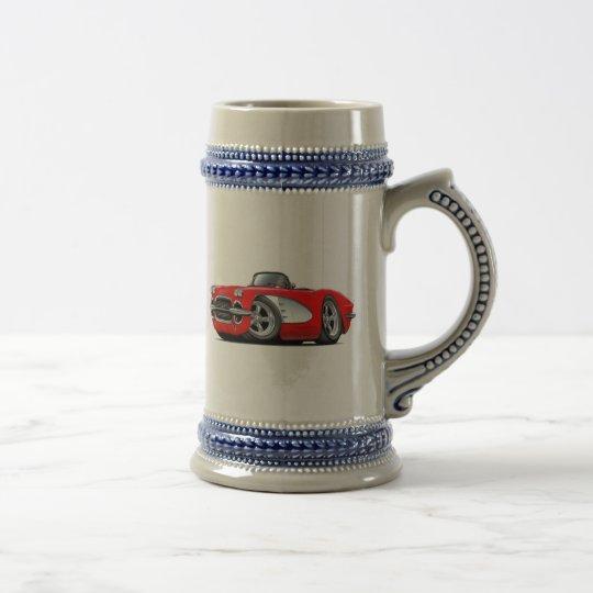 1961 Corvette Red Convertible Beer Stein
