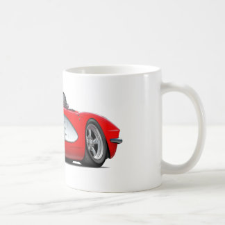 1961 Corvette Red Convertible Coffee Mug