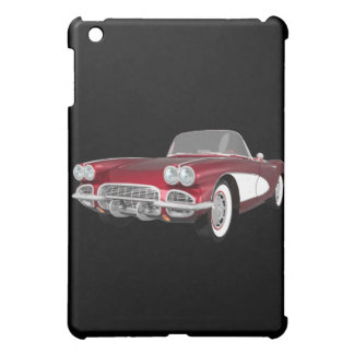 1961 Corvette Sports Car: Candy Apple: iPad Case