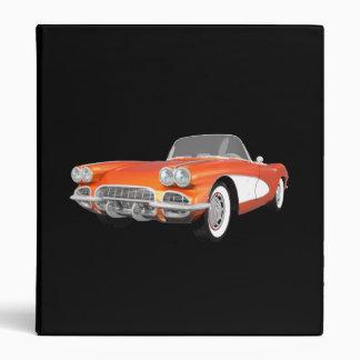 1961 Corvette Sports Car: Orange Finish: Binder
