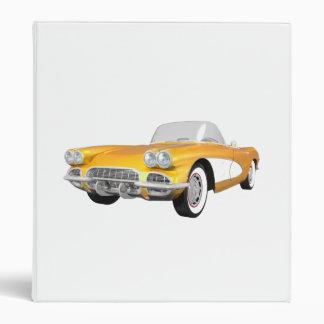 1961 Corvette Sports Car: Yellow Finish: Binder