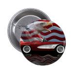 1961 Corvette Tribute 2 Inch Round Button