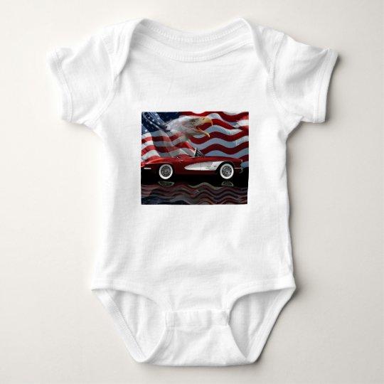 1961 Corvette Tribute Baby Bodysuit