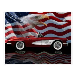 1961 Corvette Tribute Postcard