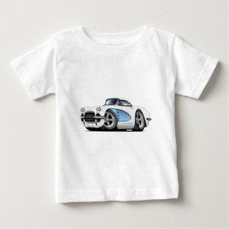 1961 Corvette White-Blue Car Baby T-Shirt