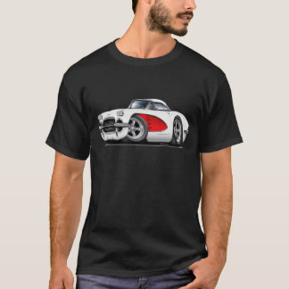 1961 Corvette White-Red Car T-Shirt