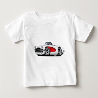 1961 Corvette White-Red Convertible Baby T-Shirt