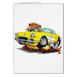 1961 Corvette Yellow Car Cards