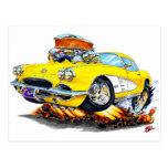 1961 Corvette Yellow Car Post Cards