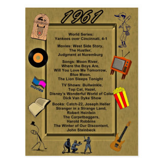 1961 Great Events Birthday Card