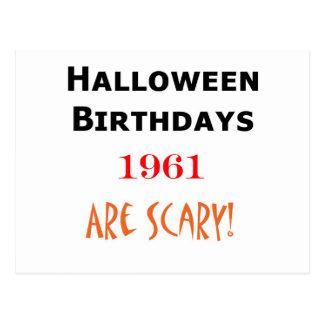 1961 halloween birthday postcard