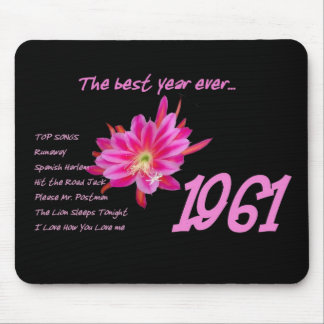 1961 Hit Songs - The Best Year Ever Mouse Pad