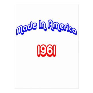 1961 Made In America Postcard