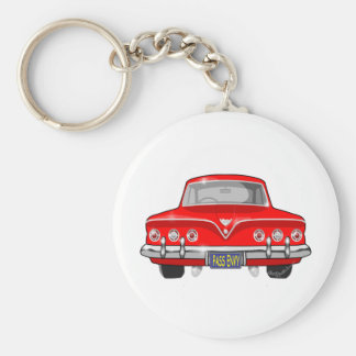 1961 Red Chevrolet Keychain