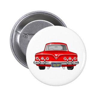 1961 rojo Chevrolet Pin Redondo De 2 Pulgadas