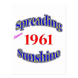 1961 Spreading Sunshine Postcard