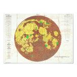 1961 U.S.G.S. Photogeologic Map of the Moon 5x7 Paper Invitation Card