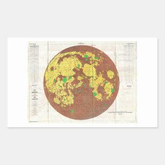 1961 U.S.G.S. Photogeologic Map of the Moon Rectangular Sticker