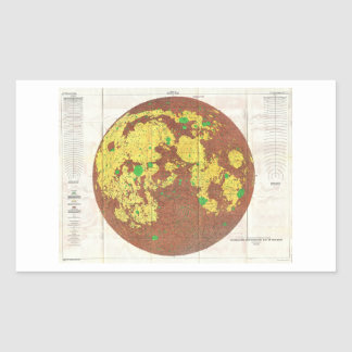 1961 U.S.G.S. Photogeologic Map of the Moon Rectangle Stickers