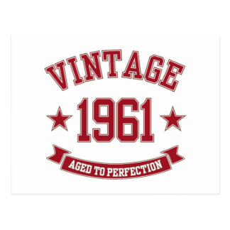 1961 Vintage Aged To Perfection Postcard
