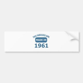 1961 year fabulous designs bumper sticker
