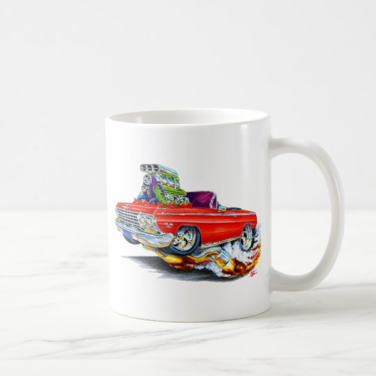 1962-63 Impala Red Convertible Coffee Mug