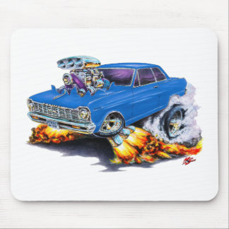 1962-65 Nova Blue Car Mouse Pad