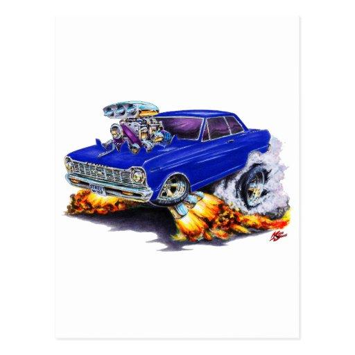 1962-65 Nova Dark Blue Car Postcard
