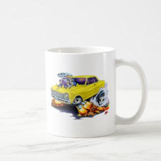 1962-65 Nova Yellow Car Classic White Coffee Mug