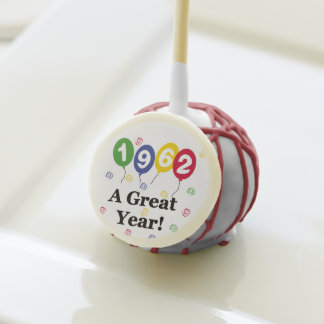 1962 a Great Year Birthday Cake Pops