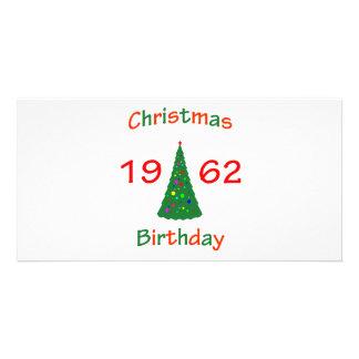 1962 Christmas Birthday Photo Card Template