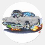 1962 Corvette Grey Car Stickers