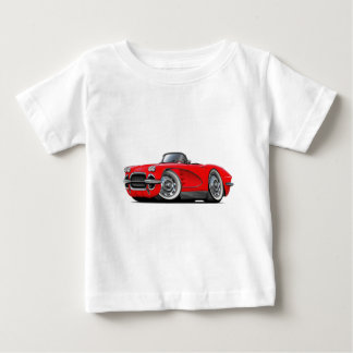 1962 Corvette Red Convertible Baby T-Shirt