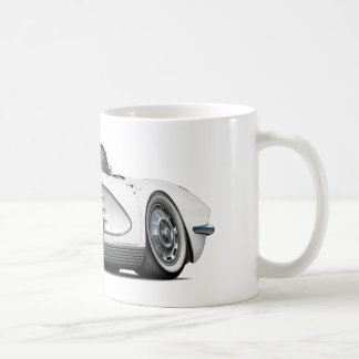 1962 Corvette White Convertible Coffee Mug