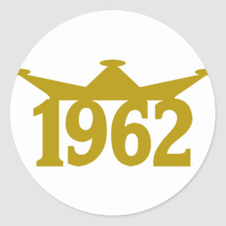 1962-Crown-.png Classic Round Sticker