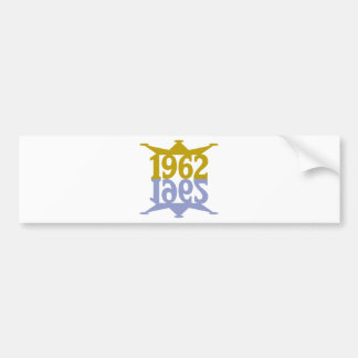 1962-Crown-Reflection.png Bumper Sticker