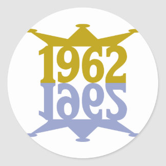 1962-Crown-Reflection.png Classic Round Sticker