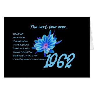 1962 cumpleaños - el mejor año nunca con canciones tarjetas