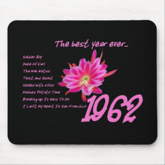 1962 Hit Songs - The Best Year Ever Mouse Pad