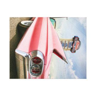 1962 pink cadillac convertible canvas print