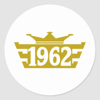 1962-Royal.png Classic Round Sticker