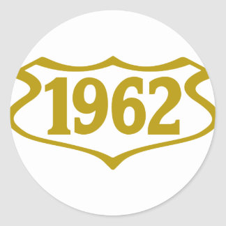 1962-shield.png classic round sticker