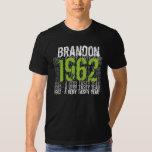 1962 Vintage - Birthday Black and Lime Custom Name Shirt