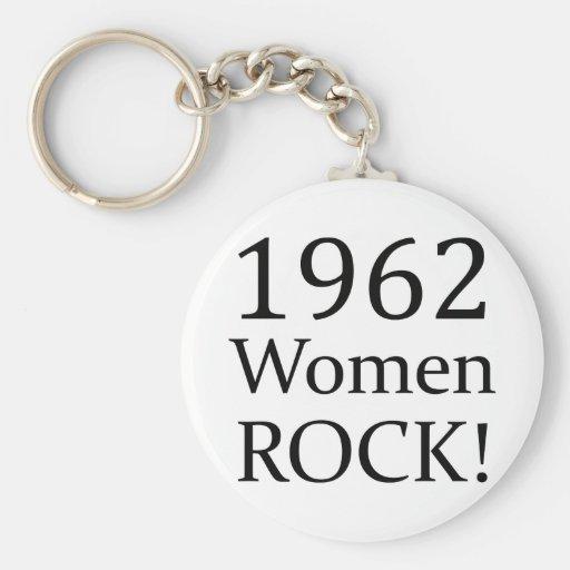 1962 Women Rock Basic Round Button Keychain