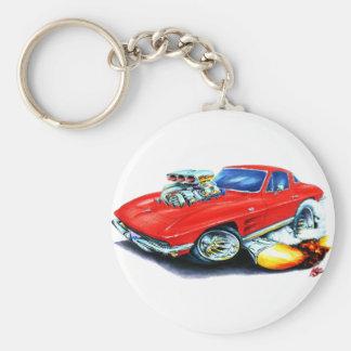 1963-64 Corvette Red Car Key Chain