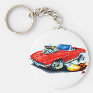 1963-64 Corvette Red Convertible Key Chains