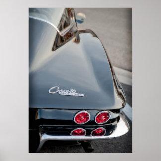1963 Black Corvette Sting Ray Posters