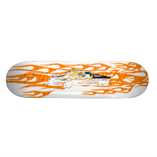 1963 BUICK RIVIERA WHITE ORANGE SKATEBOARD DECK